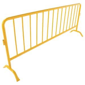 Heavy Duty Yellow Steel Crowd Control Interlocking Barrier with Both Curved Feet