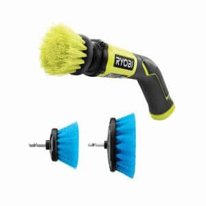 4-Volt Cordless Compact Scrubber with Soft Bristle Brush Cleaning Kit