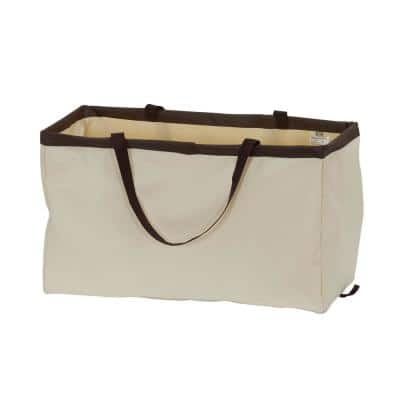 Rectangle Krush Container, Natural with Brown Trim