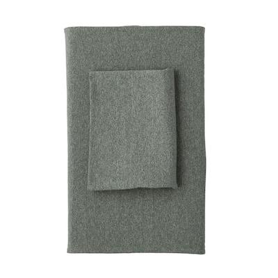 Logan Jersey Cotton Blend Queen Flat Sheet in Olive