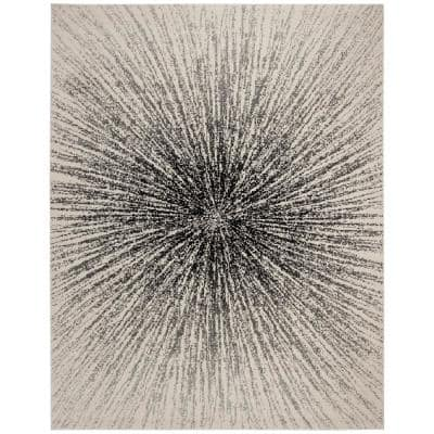 Evoke Black/Ivory 9 ft. x 12 ft. Area Rug