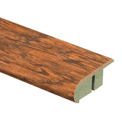 Distressed Brown Hickory 3/4 in. Thick x 2-1/8 in. Wide x 94 in. Length Laminate Stair Nose Molding