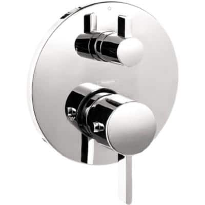 S Thermostatic 2-Handle Shower Valve Trim Kit with Volume Control and Diverter in Chrome (Valve Not Included)