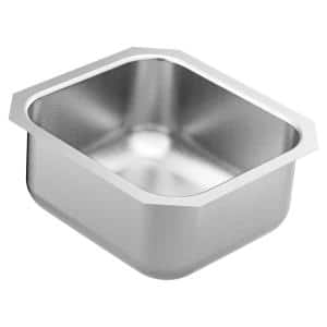 1800 Series Stainless Steel 16.5 Single Bowl Undermount Kitchen Sink with 8 in. Depth