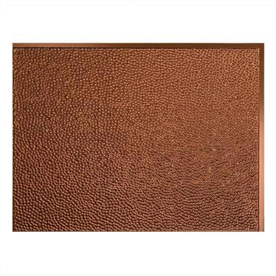 Hammered 18.25 in. x 24.25 in. Vinyl Backsplash Panel in Oil Rubbed Bronze (5-Pack)