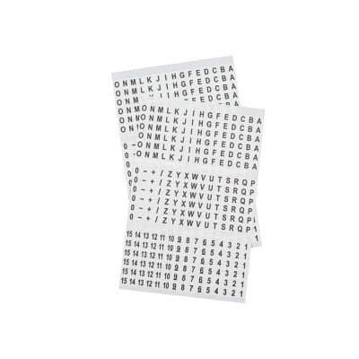 Letters, Numbers and Symbols Wire Marker Book in Black