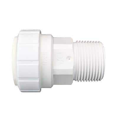 1 in. Plastic Push-to-Connect Male Connector Fitting (2-Pack)