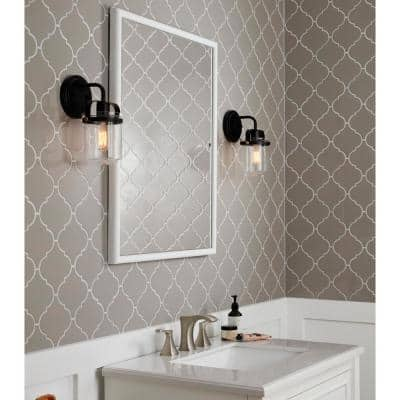 LuxeCraft Gray Arabesque 6 in. x 6 in. Glazed Wall Ceramic Tile (10.8 sq. ft./Case)