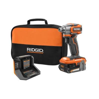 18V SubCompact Brushless Cordless Impact Driver Kit with (1) 2.0 Ah Battery, Charger, and Bag