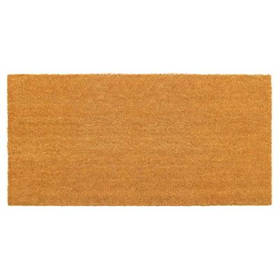 Natural 24 in. x48 in. Machine Tufted Plain Doormat