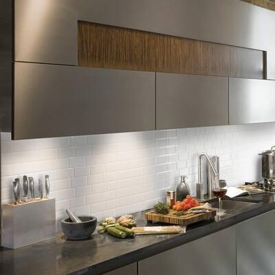 Metro Blanco 11.56 in. W x 8.38 in. H White Peel and Stick Self-Adhesive Decorative Mosaic Wall Tile Backsplash (4-Pack)