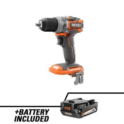 18V SubCompact Brushless Cordless 1/2 In. Hammer Drill/Driver with 18V Lithium-Ion 1.5 Ah Battery