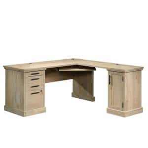 Aspen Post 65.118 in. Prime Oak Engineered Wood L-Shaped Desk