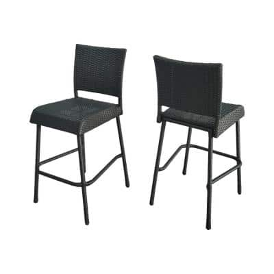 Timothy Gray Wicker Outdoor Bar Stool (2-Pack)