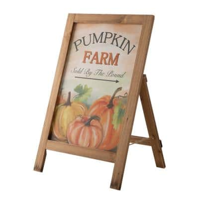 24 in. H Fall Wooden Porch Sign / Standing Decor
