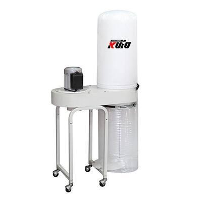 2 HP 1550 CFM 1-Phase, 110-Volt Vertical Bag Dust Collector