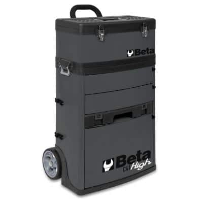 21 in. Mobile Tool Utility Cart with 3 Slide-Out Drawers and Removable Top Box with Carry Handle in Gray