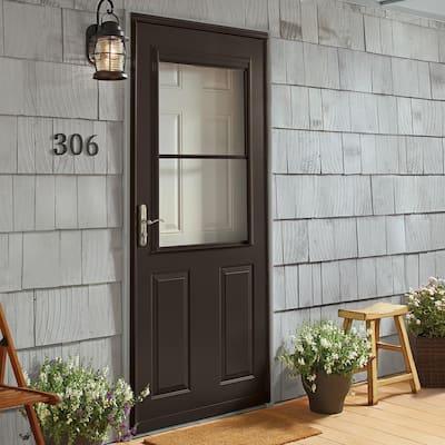 400 Series 1/2 View Self-Storing Storm Door