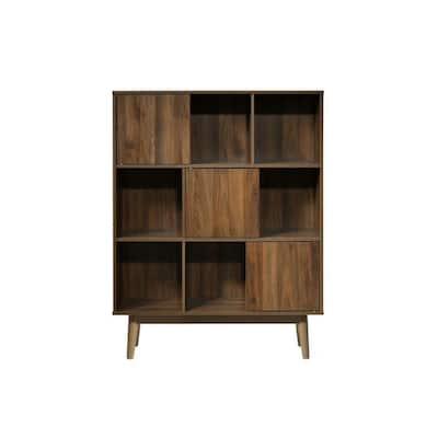Montery Midcentury 44.8 in. Walnut Wood 6-Shelf BookCase