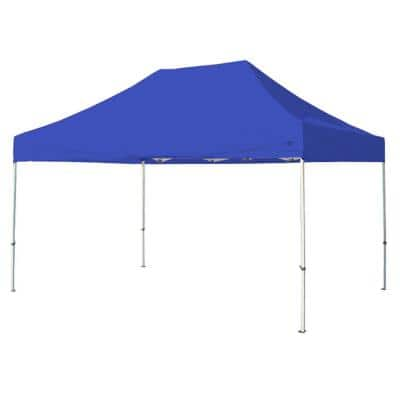 Tuff Tent 10 ft. x 15 ft. White Frame Instant Pop Up Tent with Blue Cover