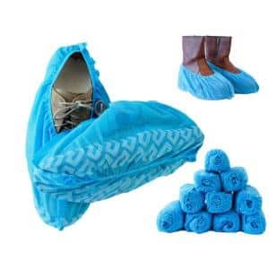 1-Size Fits Most Premium Disposable Boot and Shoe Covers Water Resistant Non-Slip and Recyclable (10-Pack)