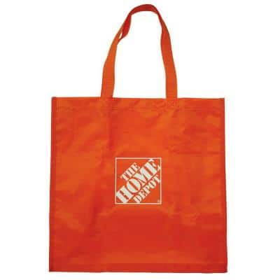 7.25 in. Orange Reusable Shopping Bag