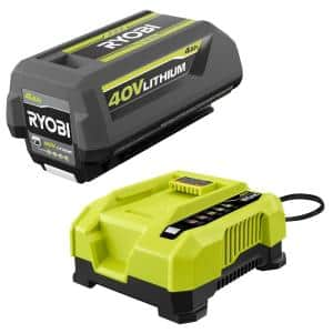 40-Volt Lithium-Ion 4.0 Ah Battery and Rapid Charger