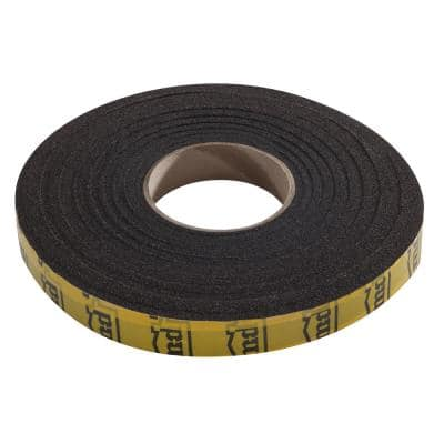 1 in. x 13 ft. Black Expandable Foam Weatherstrip
