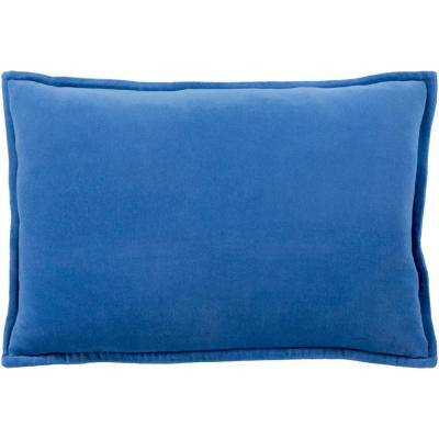 Velizh Blue Solid Polyester 19 in. x 20 in. Throw Pillow