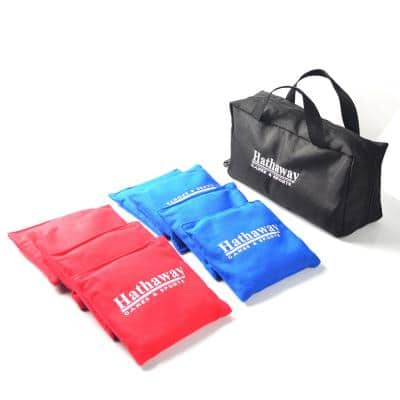 Regulation Cornhole Bag Set with Included Case in Red/Blue
