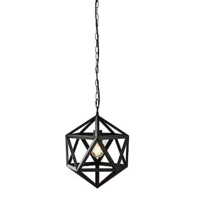 1-Light Bronze Outdoor Pendant Light Bulb Included (2-Pack)