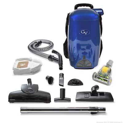 Blue 8 Qt. Light Powerful HEPA BackPack Vacuum Blower Loaded