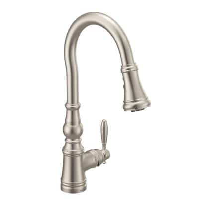 Weymouth Single-Handle Pull-Down Sprayer Kitchen Faucet with Reflex in Spot Resist Stainless