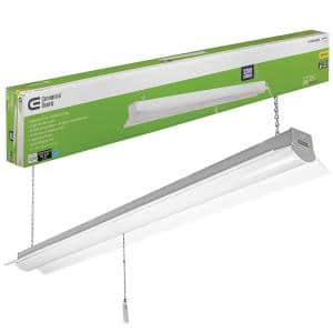 4 ft. 64-Watt Equivalent Integrated LED White Shop Light Linkable 3200 Lumens 4000K Bright White 5 ft. Cord Included