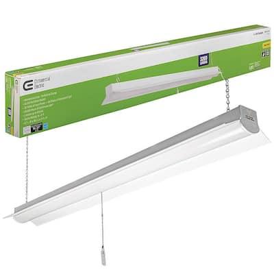 4 ft. 64-Watt Equivalent Integrated LED White Shop Light Linkable 3200 Lumens 4000K Bright White 5 ft. Cord Included