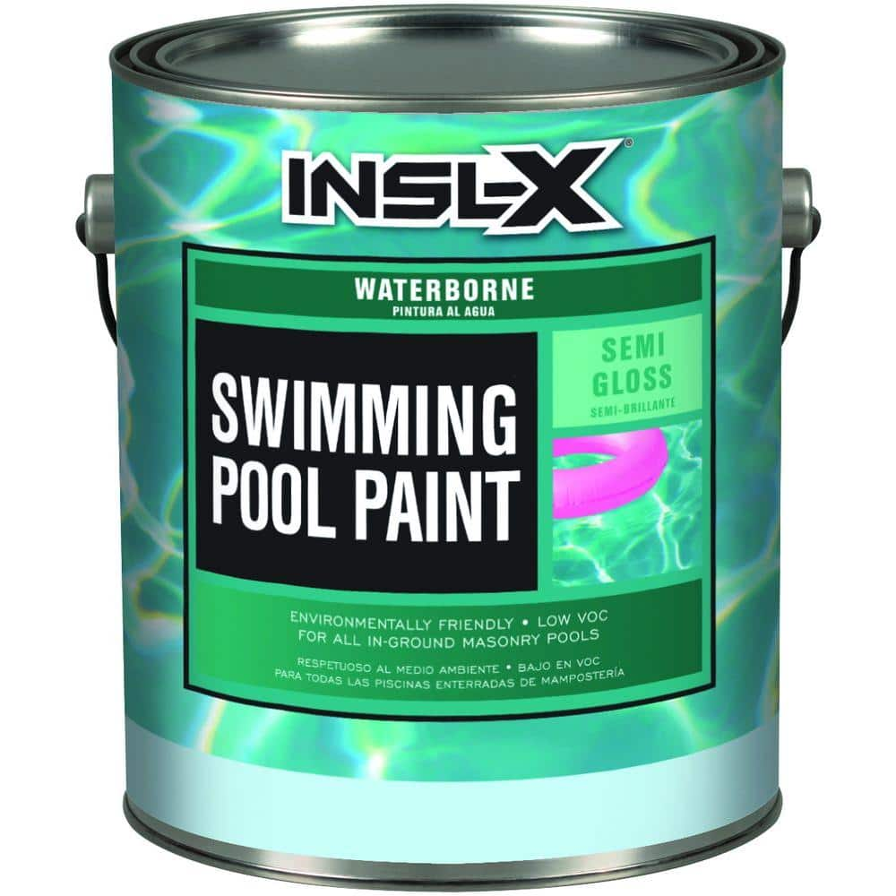 Insl X 1 Gal Semi Gloss Water Ocean Blue Swimming Pool Paint Wr1023 The Home Depot