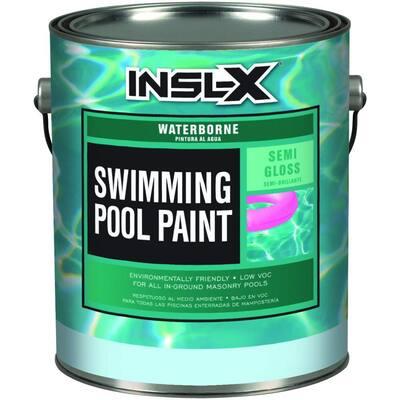 WR-1024 1 Gal. Semi-Gloss Acrylic Royal Blue Waterborne Swimming Pool Paint