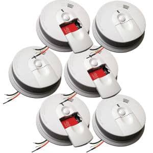 Firex Hardwired Smoke Detector with Ionization Sensor, 9-Volt Battery Backup, and Front Load Battery Door (6-Pack)