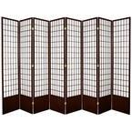 7 ft. Walnut 8-Panel Room Divider