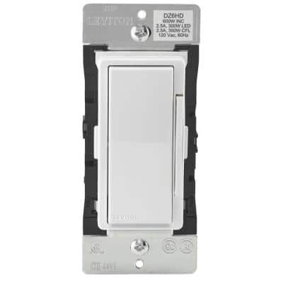 Decora Smart with Z-Wave Technology 600-Watt Dimmer, White/Light Almond