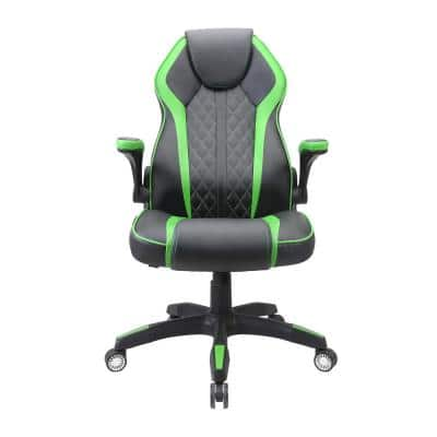 Green Gaming Chair Swivel Racing Office Computer Chair with Lumbar Support