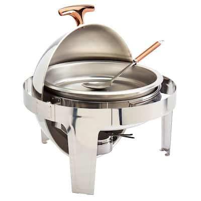 5PC 6.3 QT Roll Top Chafing Dish