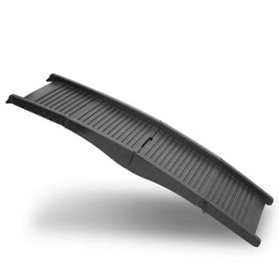 Black Folding Pet Ramp for Home or Car