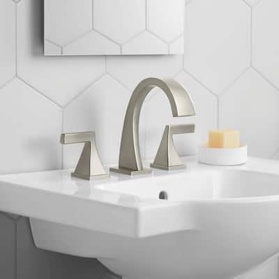 Katun 8 in. Widespread 2-Handle Bathroom Faucet in Vibrant Brushed Nickel