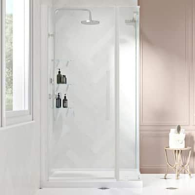 48 34 Shower Stalls Kits, Fiberglass Shower Stall With Glass Door
