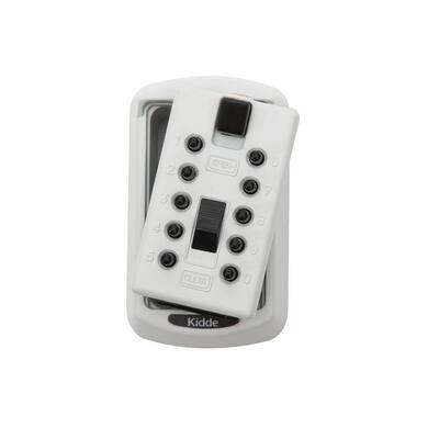 Mounted 2-Key Lock Box with Pushbutton Combination Lock