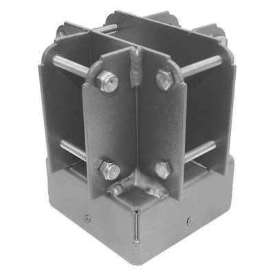 4 in. x 4 in. Aluminum Post Top Connector