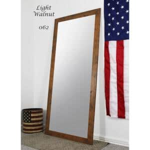 Oversized Light Brown Composite Rustic Mirror (70.5 in. H X 31.5 in. W)