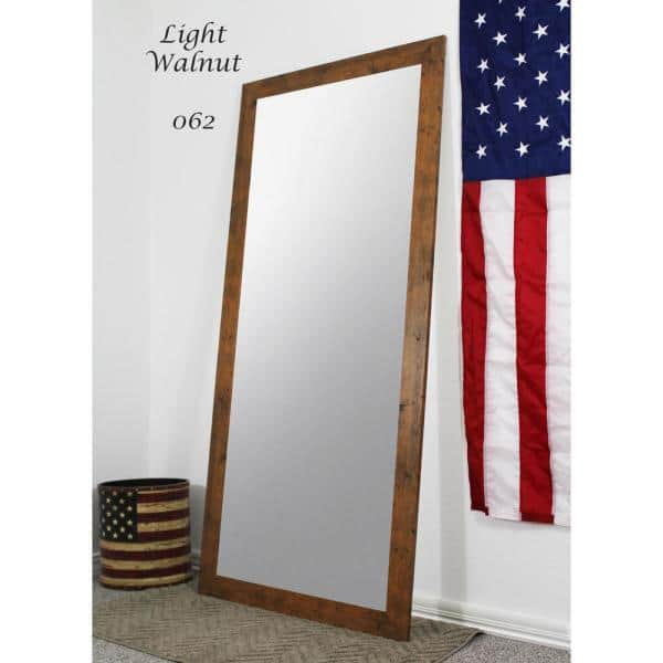 Oversized Light Brown Composite Rustic Mirror 70 5 In H X 31 5 In W Vv062 26 65 The Home Depot