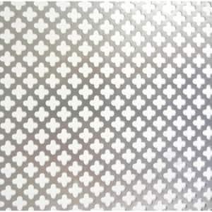 36 in. x 36 in. Cloverleaf Aluminum Sheet, Silver